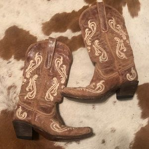 Shoes - Tan / Brown Cowgirl Boots